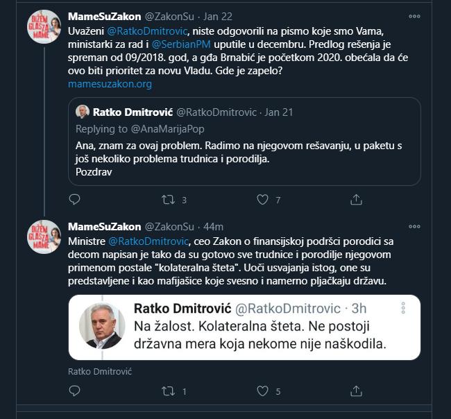 Za ministra za brigu o porodici Dmitrovića porodilje su kolateralna šteta? (FOTO)