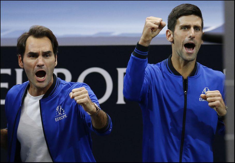 Zagrevanje: Nole hop hop, Federer gib, gib (VIDEO)