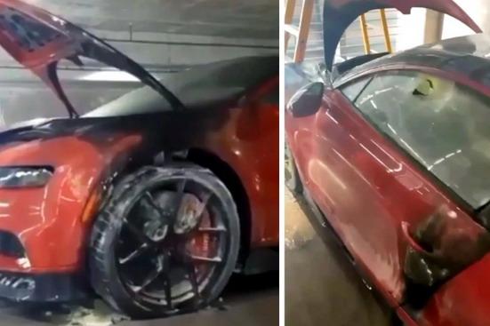 Zapaljeni Bugatti Chiron verovatno predstavlja novi napad na muzičara El Alfa