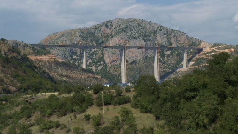 Završen most na autoputu Bar-Boljare