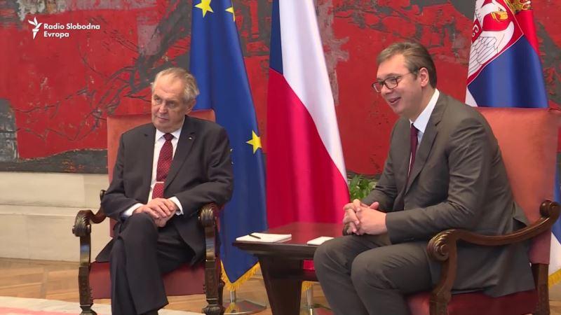 Zeman na sastanku sa Vučićem u Beogradu
