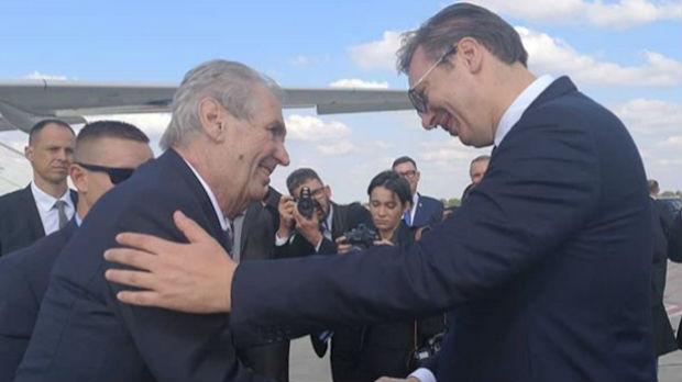 Zeman stigao u Beograd