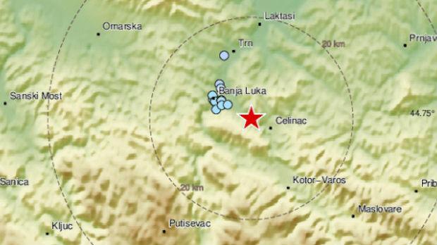 Zemljotres na području Banjaluke