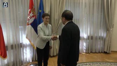 Brnabić sa Jangom o saradnji Srbije i Kine, ali i SNS i KP Kine