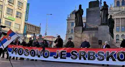 "ČEŠKA: Protest protiv ""nezavisnosti"" KiM - ""KOSOVO JE SRBSKO!"" (FOTO, VIDEO)"