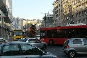 Centar Beograda u crvenom, Batajnica blokirana