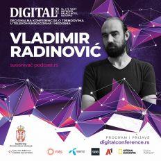 DIGITAL 2021: Vladimir Radinović – Podkast je budućnost medijskog ekosistema u Srbiji