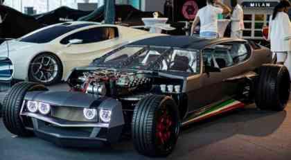 Danton Arts Kustoms Lamborghini Espada u hardcore kreaciji kao iz filma Mad Max