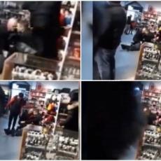 Drama u Kruševcu: Muškarac mahao satarom po kineskom tržnom centru, bežao i rušio sve pred sobom! (VIDEO)
