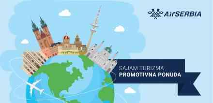 Er Srbija predstavlja devet novih destinacija na Sajmu turizma u Beogradu; Pogodnosti posetiocima zainteresovanim za kupovinu karata za nove linije