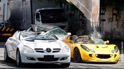 Filipinska kazna, bagerom na McLaren, Porsche i Bentley