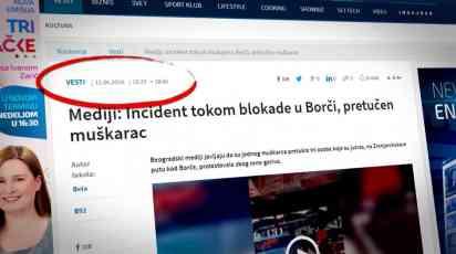 Informer laže da N1 nije objavila snimak incidenta u Borči