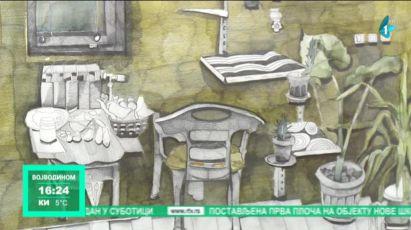 Izložba crteža Enterijeri u Bačkoj Palanci