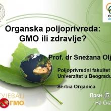 Kragujevac bez GMO 2021: Predavanje Organska proizvodnja GMO ili zdravlje