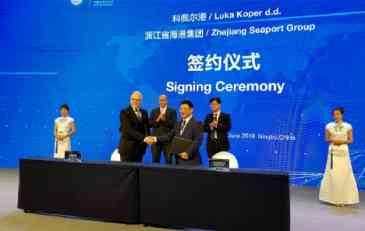 Luke Koper se povezuje s Ningbo Zhousan Port Groupom