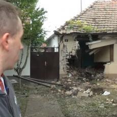 MISLILI SMO DA JE ZEMLJOTRES Kikinđanka iščupala drvo i prošla kroz zid! (VIDEO)