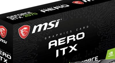 MSI predstavio GeForce RTX 2070 AERO ITX