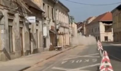NAKON POTRESA PAO DEO ZGRADE! Novi zemljotres u Hrvatskoj snažno se osetio u Petrinji (FOTO, VIDEO)