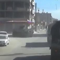 NOVI NAPAD NA RUSKI KONVOJ U SIRIJI: Teroristi aktivirali eksploziv, ali se transporter nije predao! (FOTO)