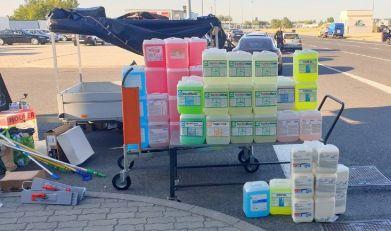 Na Horgošu zaplenjena sredstva za čišćenje tepiha