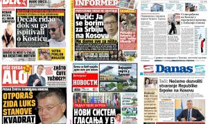 Naslovne strane dnevnih listova: Prelistavanje štampe za 15. avgust 2018. godine