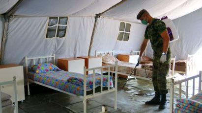 Opremljena poljska bolnica u Novom Pazaru