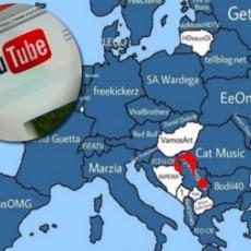Ova karta pokazuje NAJPOPULARNIJE JUTJUB KANALE U EVROPI: Evo ko prednjači u Srbiji! (FOTO)