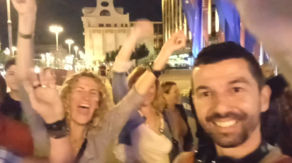 Ovako slavi Moskva: Kakva vrela atmosfera! (VIDEO)