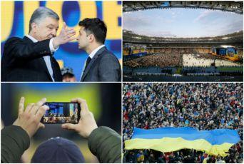 POROŠENKO I ZELENSKI SE POČASTILI UVREDAMA PRED 22.000 LJUDI: Ovako je izgledala predizborna debata na Olimpijskom stadionu (FOTO, VIDEO)