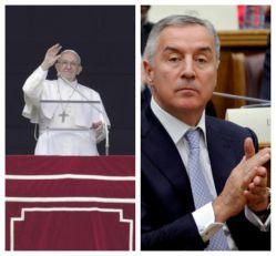 PORUKA IZ VATIKANA: Papa Franja čestitao Milu Đukanoviću Dan državnosti Crne Gore