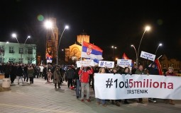 Peti protest Jedan od pet miliona u Trsteniku