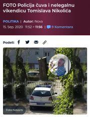 Policija čuva nelegalnu vikendicu Tomislava Nikolića