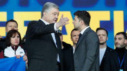 Porošenko i Zelenski, optužbe pred drugi krug