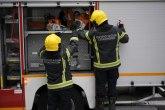 Požar na Adi; vatrogasci na terenu