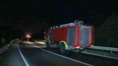Požar u pogonu Imleka u Padinskoj Skeli