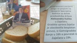 """Pozivnice za miting Vučića deljene pacijentima u Specijalnoj bolnici """"Gamzigrad"""""""