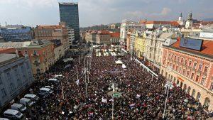 Protest protiv Istanbulske konvencije u Zagrebu