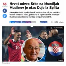 SUSEDI PRISVAJAJU MUSLINA: 'Hrvat odveo Srbiju na Mundijal'! (FOTO)