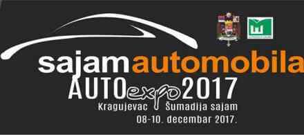 Sajam automobila – Auto Expo 2017 u Kragujevcu od 8. do 10. decembra