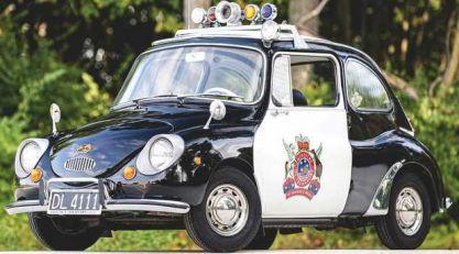Subaru 360 kao policijski automobil