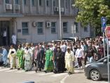 Svečanim liturgijama Leskovčani i Vranjanci obeležili gradsku slavu