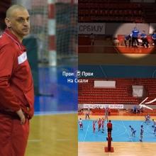 Trener OK Nis Dragan Svetozarevic sutnuo igraca u hali Jezero!