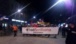 U Zrenjaninu večeras četvrti protest Jedan od pet miliona