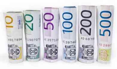 U ponedjeljak evro 119,2 dinara
