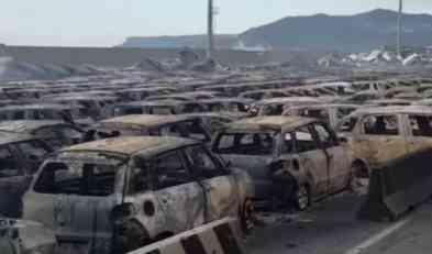 U požaru u luci Savona izgorelo na stotine novih Maseratija i Fiata 500L
