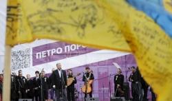 Ukrajinski predsednik održao miting uoči predizborne debate sa protivnikom