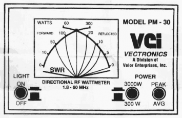 Vectronics PM-30 SWR/Power Meter User Manual and Schematics