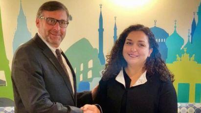 Vjosa Osmani, kandidatkinja za premijerku Kosova, razgovarala sa Palmerom