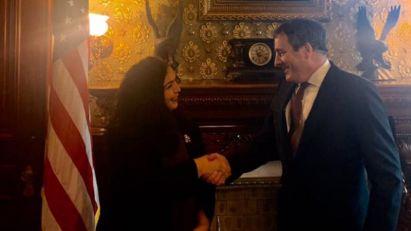 Vjosa Osmani, kandidatkinja za premijerku Kosova, u Beloj kući