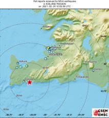 ZEMLJOTRES NA ISLANDU Prvi je bio jak, a onda je usledila serija potresa! Cifra stala na 40!